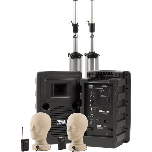 Anchor Audio Liberty Deluxe AIR PA Package Dual with Two LM-60 Lapel Mics