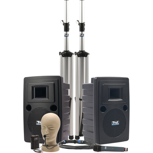 Anchor Audio LIB-DPDUAL Liberty Platinum DUAL Deluxe PA Package with Handheld & Collar Microphone