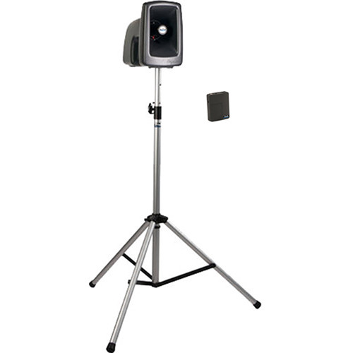 Anchor Audio MEGA-BP1-B MegaVox 2 PA with Stand, Wireless Bodypack, Lapel, and Headset Mic Kit
