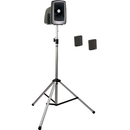 Anchor Audio MEGA-BP2-BB MegaVox 2 PA with Stand, and Two Wireless Bodypack Lapel/Headset Mics Kit