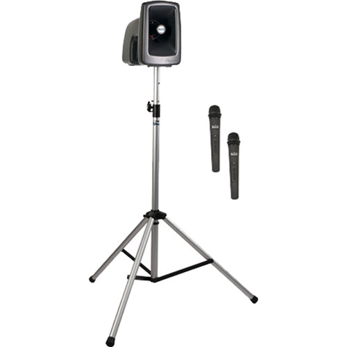 Anchor Audio MEGA-BP2-H MegaVox 2 Basic Package with Stand & Two Wireless Handheld Microphones