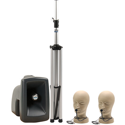 Anchor Audio MEGA-8000U1 MegaVox Pro PA System, Basic Package with Two Collar Microphone