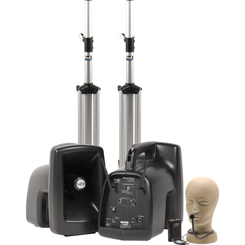 Anchor Audio MegaVox Deluxe AIR Package with CM-60 Collar Microphone