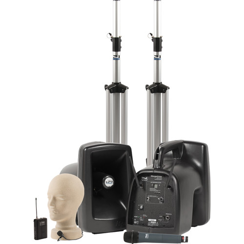 Anchor Audio MegaVox Deluxe AIR PA Package Dual with One WH-8000 Wireless Handheld Microphone & One LM-60 Lapel Microphone