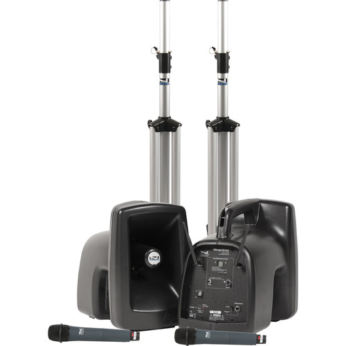 Anchor Audio MegaVox Deluxe AIR PA Package Dual with Two WH-8000 Wireless Handheld Microphones