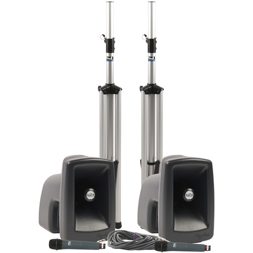 Anchor Audio MEGA-DPDUAL MegaVox DUAL Deluxe PA Package with Two Wireless Handheld Microphones