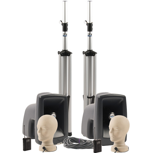 Anchor Audio MEGA-DPDDUAL MegaVox DUAL Deluxe PA Package with Two Lapel Microphones