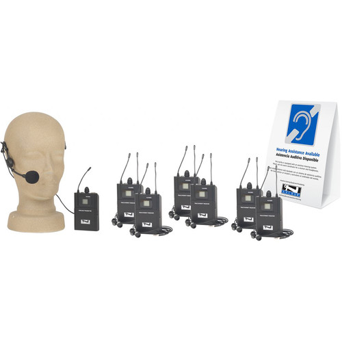Anchor Audio Tour-9000 Wireless Tour Guide Package for 6-Users (902 to 928 MHz)