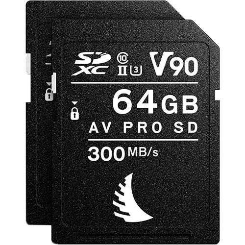 Angelbird 64GB AV Pro Mk 2 UHS-II SDXC Memory Card (2-Pack)