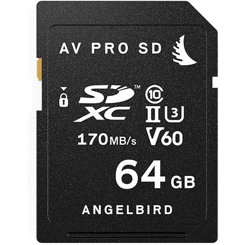 Angelbird 64GB AV Pro UHS-II SDXC Memory Card