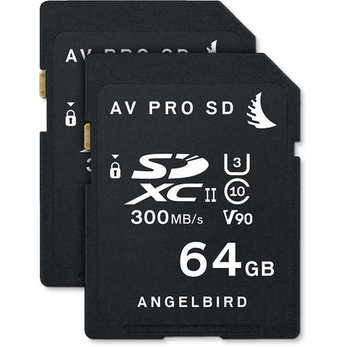 Angelbird 64GB AV Pro UHS-II SDXC Memory Card (2-Pack)