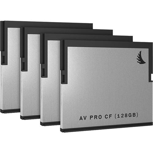 Angelbird 128GB AV Pro CF CFast 2.0 Memory Card (4-Pack)