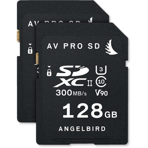 Angelbird 128GB AV Pro UHS-II SDXC Memory Card (2-Pack)