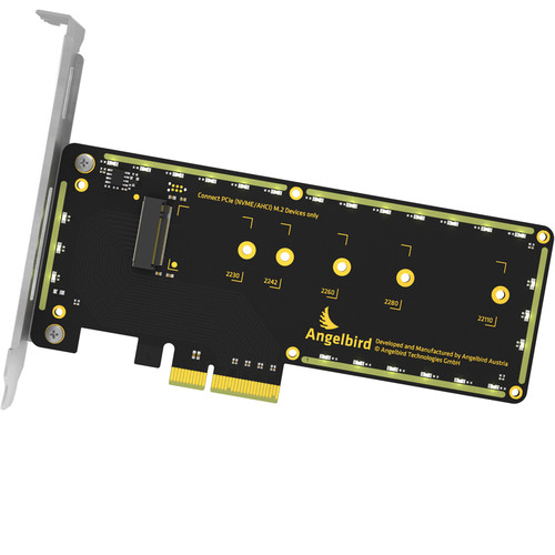 Angelbird Wings PX1 PCIe x4 M.2 Adapter and 512GB NVMe M.2 SSD Kit