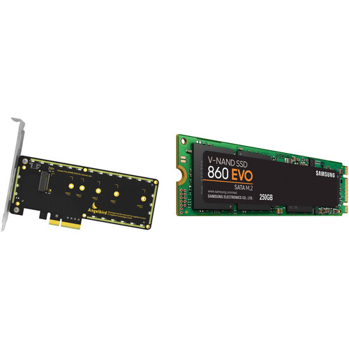 Angelbird Wings PX1 PCIe x4 M.2 Adapter with 250GB SSD