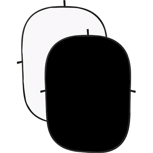 Angler Collapsible Background - 5 x 7' (Black/White)
