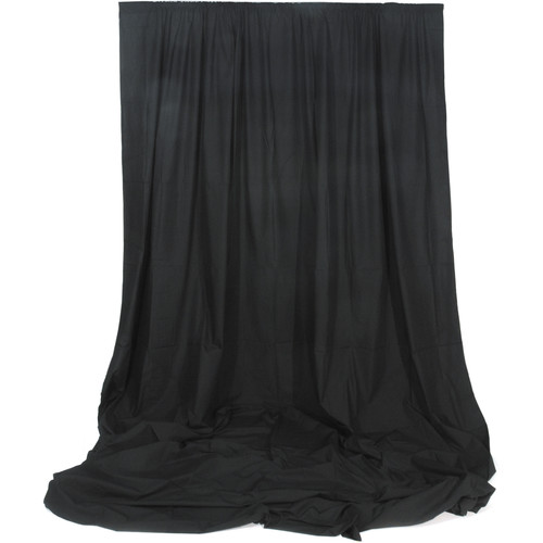Angler Muslin Background (Black, 10 x 12')