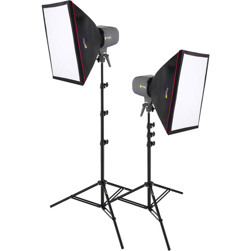 Angler Glamour Flash 160Ws 2-Light Kit with Softboxes and Stands