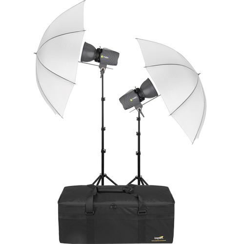 Angler Glamour Flash 160Ws 2-Monolight Kit with Umbrellas and Bag