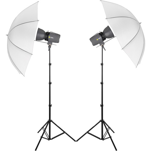 Angler Glamour Flash 160Ws 2-Monolight Kit with Umbrellas