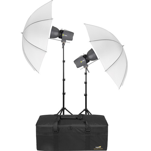 Angler Glamour Flash 160Ws 2-Monolight Kit with Umbrellas and Bag