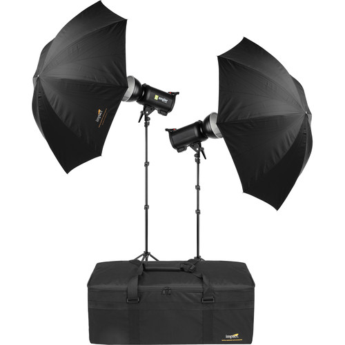 Angler Q400 2-Monolight Kit with Stands, Umbrellas, and Case