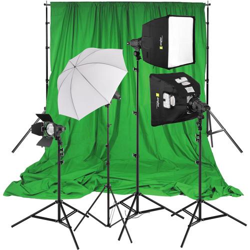 Angler Shadow Focus Spot 300 4-Light Kit with Green Screen