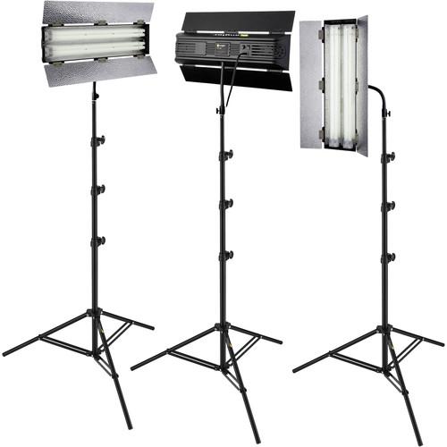 Angler Steady Cool 2-Lamp Fluorescent Fixture 3-Light Kit