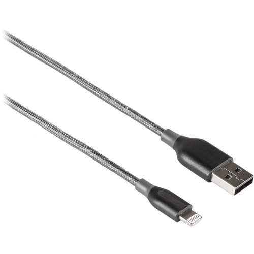 ANKER PowerLine+ Lightning to USB Type-A Cable (3', Gray)