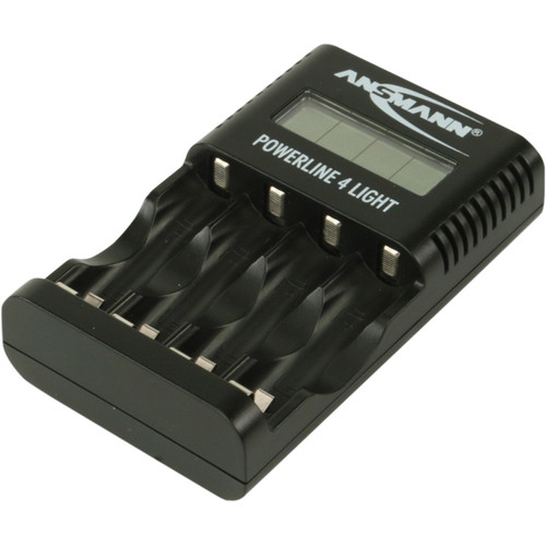 Ansmann Powerline 4 Light Battery Charger for AA and AAA NiMH and NiCd Cells