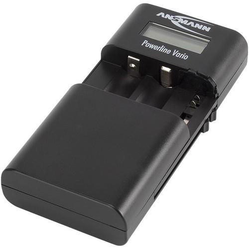 Ansmann Powerline Vario Charger for Li-Ion/Li-Po Battery Packs or AA/AAA Batteries