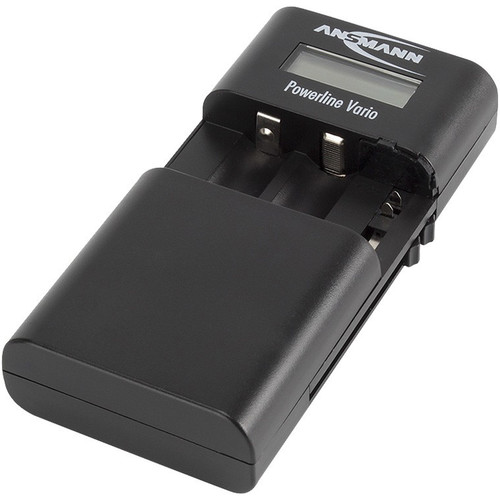 Ansmann Powerline Vario Charger for Li-Ion/Li-Po Battery Packs or AA/AAA Batteries