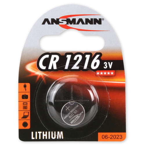Ansmann CR1216 3V Lithium Battery (24mAh)