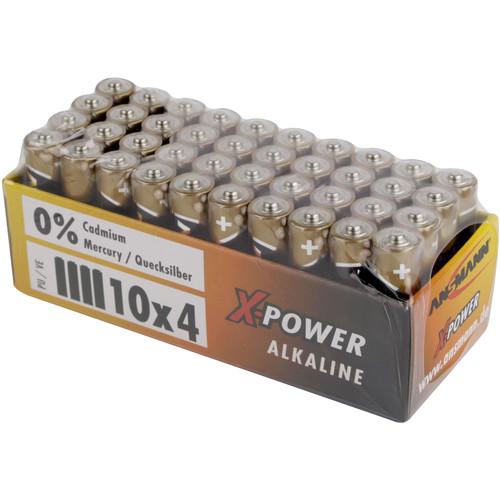 Ansmann X-Power AAA Alkaline Batteries (40-Pack)