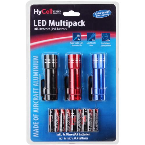 Ansmann HyCell LED Mini-Flashlight Multipack (3-Pack)