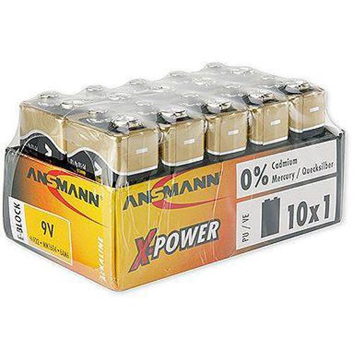 Ansmann X-Power Size-E Alkaline Batteries (10-Pack)