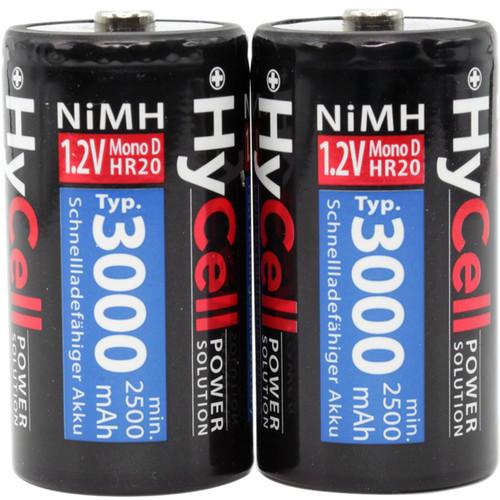 Ansmann Mono D NiMH Rechargeable Battery (1.2V, 3000mAh, 2-Pack)