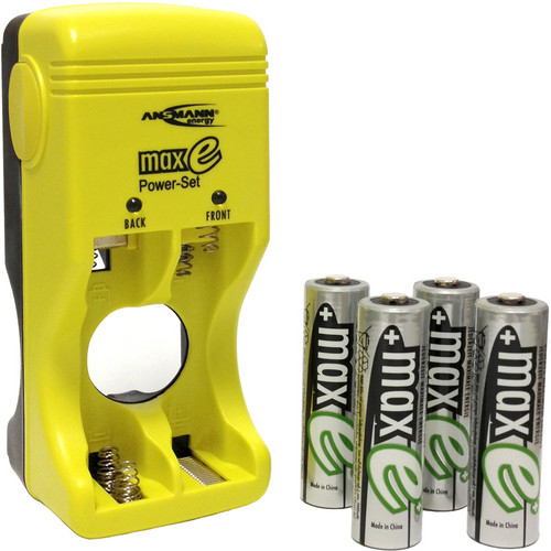 Ansmann Max e Power Set Battery Charger and Batteries