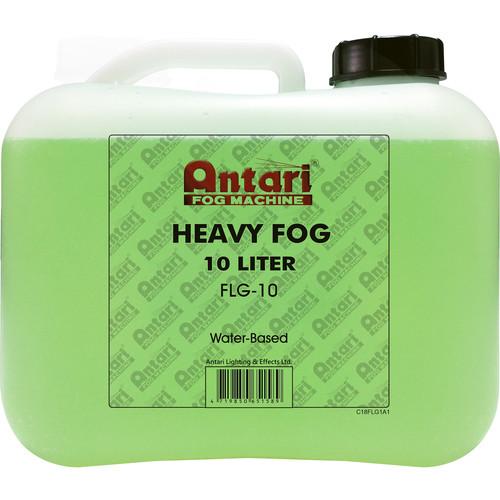 Antari FLG-10 Long-Lasting Fog Fluid for Antari Fog Machines (2.6 Gallons, Green Formula)