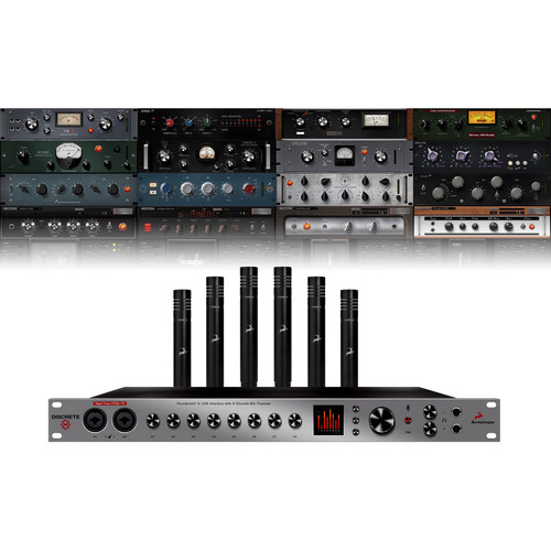 Antelope Discrete 8 and Verge Microphone Bundle - Thunderbolt/USB 26x32 Audio Interface and Six Small-Diaphragm Condenser Microphones