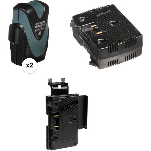 Anton Bauer Digital 90 2-Battery Kit with TWIN Charger & QR-SDH Plate (Gold Mount)