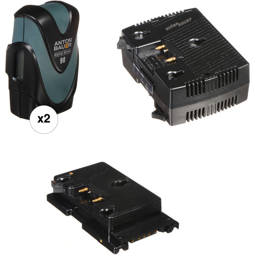 Anton Bauer Digital 90 2-Battery Kit with TWIN Charger & Sony F5/F55 Plate (Gold Mount)