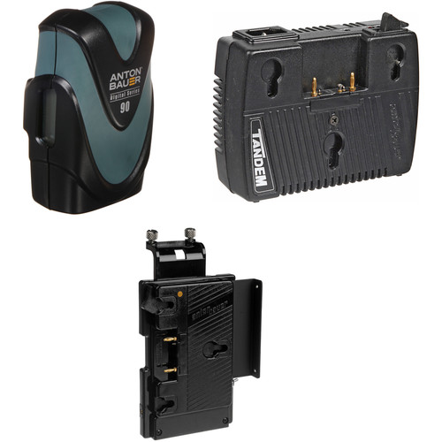 Anton Bauer Digital 90 Battery Kit with Tandem-70 Charger & QR-SDH Plate (Gold Mount)