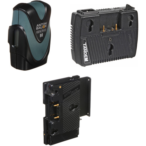 Anton Bauer Digital 90 Battery Kit with Tandem-70 Charger & QR-DSR Plate (Gold Mount)