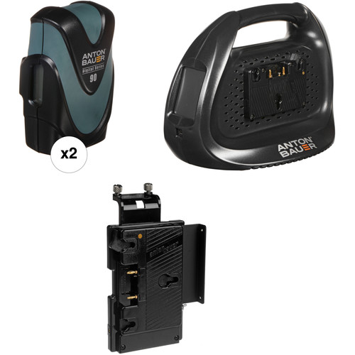 Anton Bauer Digital 90 Battery Kit with Dual Charger & Plate for Select Sony HD Cameras (Gold Mount)