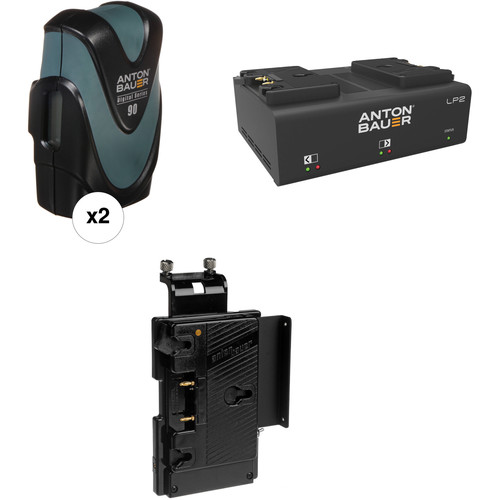 Anton Bauer Digital 90 Battery Kit with LP2 Dual Charger & Plate for Sony HD Cameras (Gold Mount)