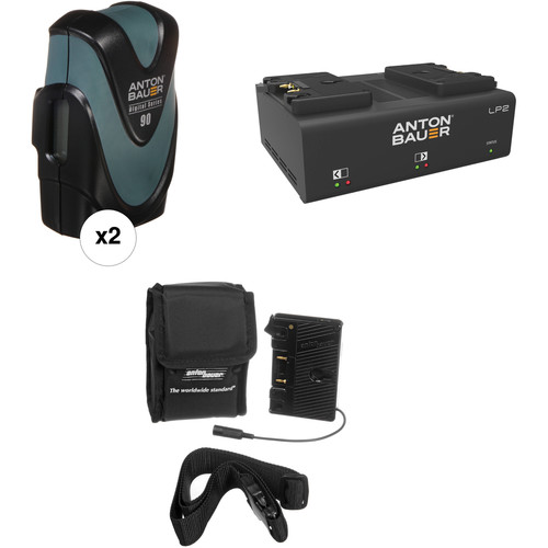 Anton Bauer Digital 90 Battery Kit with LP2 Dual Charger & Plate for Canon DSLR (Gold Mount)