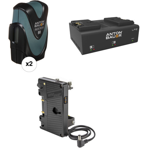Anton Bauer Digital 90 Battery Kit with LP2 Dual Charger & Plate for Sony FS7 (Gold Mount)