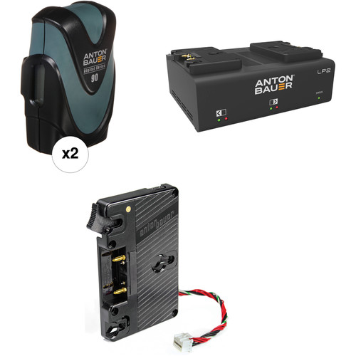 Anton Bauer Digital 90 Battery Kit with LP2 Dual Charger & Plate for Blackmagic URSA (Gold Mount)