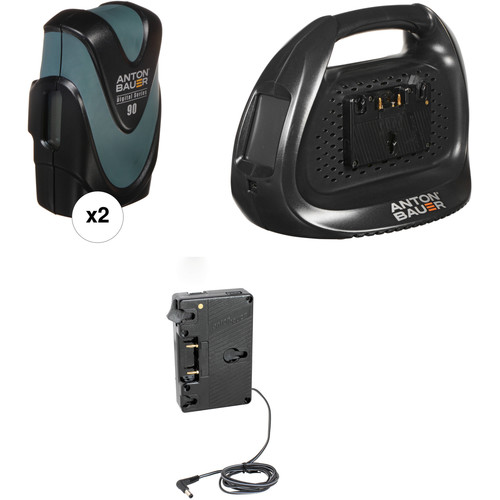Anton Bauer Digital 90 Battery Kit with Dual Charger & Plate for Canon C300/C500 (Gold Mount)